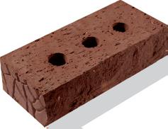 Кирпич фасадный коричневый