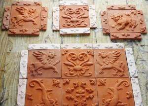 Глиняная плитка своими руками 37